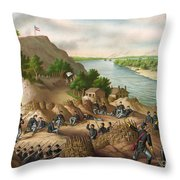 Siege Of Vicksburg, 1863 Throw Pillow