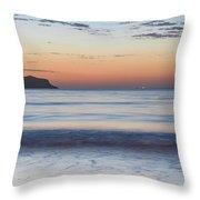 Soft Sunrise Seascape Throw Pillow