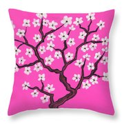 Spring Tree In Blossom, Painting Throw Pillow