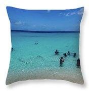 St. Marrten Caribbean Island Throw Pillow