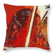 Star Wars Episode 1 Poster Throw Pillow