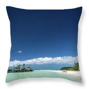 Station 2 Beach Area Of Boracay Tropical Paradise Island Philipp Throw Pillow