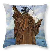 Statue Of Liberty 1886 Throw Pillow