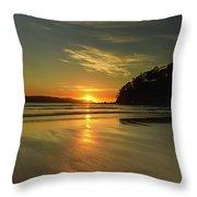 Sunrise Seascape From The Beach Throw Pillow