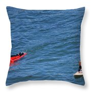 Surfer On Board. Throw Pillow