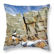 The Big Rock Throw Pillow