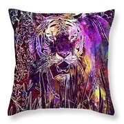 Tiger Predator Fur Beautiful  Throw Pillow