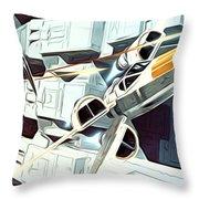 Trilogy Star Wars Art Throw Pillow