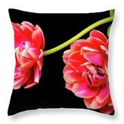 Tulip Floral Arrangement Throw Pillow