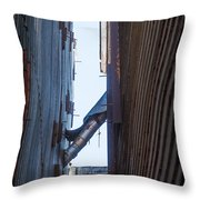 Vintage Grain Elevator Throw Pillow