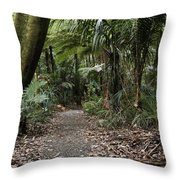 Walking Trail Throw Pillow