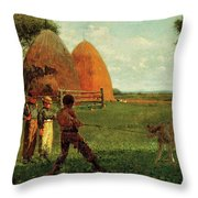 Weaning The Calf Throw Pillow