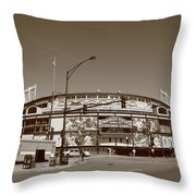 Wrigley Field - Chicago Cubs Throw Pillow