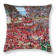Xxvi Concurs De Castells Throw Pillow