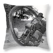 90 M P H Monocycle - 1933 Throw Pillow