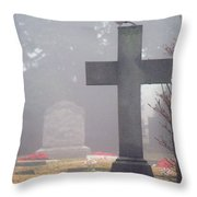 9000-foggy Morning Throw Pillow