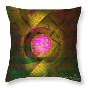 90s Neon Throw Pillow