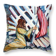 911 Cries For Jesus Throw Pillow
