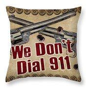 911 Throw Pillow