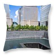 911 Memorial - Panorama Throw Pillow