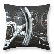 911 Porsche Dash Throw Pillow