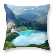 Oil Painting Landscape Pictures Throw Pillow