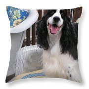 #940 D1036 Farmer Browns Springer Spaniel Happy For You Have A Happy Day Throw Pillow