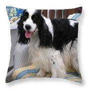 #940 D1040 Farmer Browns Springer Spaniel Cute Throw Pillow