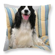 #940 D1075 Farmer Browns Happy For You Throw Pillow