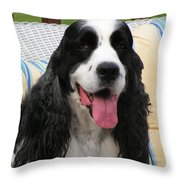 #940 D1089 Farmer Browns Springer Spaniel Throw Pillow