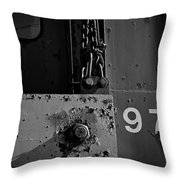 97 Track Plow Throw Pillow