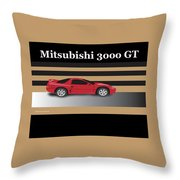 99 Mitsubishi 3000 Gt Throw Pillow