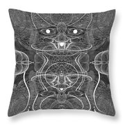 991 Feline  Creature Throw Pillow