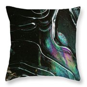 9.close-up Ice Prismatics, Loch Na Achlaise Throw Pillow