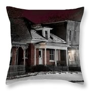 9th St. Auraria Throw Pillow