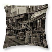 9th Street Italian Market - Philadelphia Pennsylvania Throw Pillow
