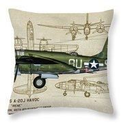 A-20 Havoc - Irene Throw Pillow
