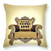 A A G - Antiquearmchairgold Throw Pillow