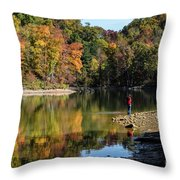 A Autumn Walk Throw Pillow