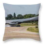 A B-1b Lancer Of The U.s. Air Force Throw Pillow