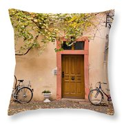 A Back Lane In Speyer Throw Pillow