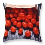 A Bag Of Tomatoes Throw Pillow