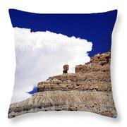 A Balanced Rock Throw Pillow
