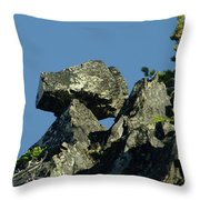 A Balancing Rock  Throw Pillow