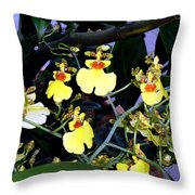 A Ballet Of Tiny Orchids Throw Pillow