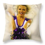 A Baltimore Ravens Cheerleader  Throw Pillow