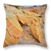 A Band Of Gold In Valley Of Fire Throw Pillow