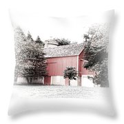 A Barn In The City Throw Pillow