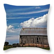 A Barn Throw Pillow