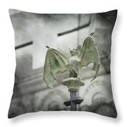 A Bat In The Belfry Throw Pillow